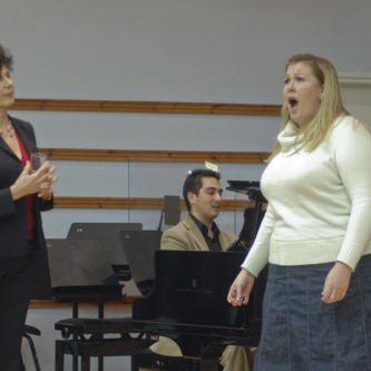Working with students of the Royal College of Music November, 2008