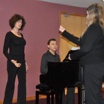 Working with singers of Co-opera Company, 2012