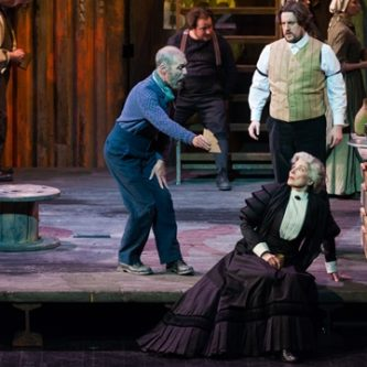 As Mrs Sedleywith Alan Oke and Benedict NelsonPeter Grimes - Lyon 2014